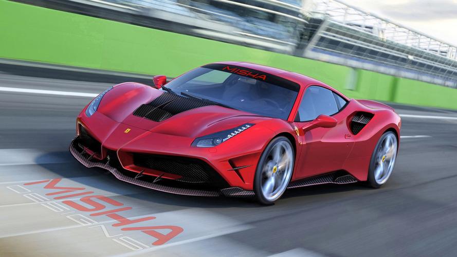 Modifiyeli Ferrari 488 GTB FXX K'yi anımsatıyor