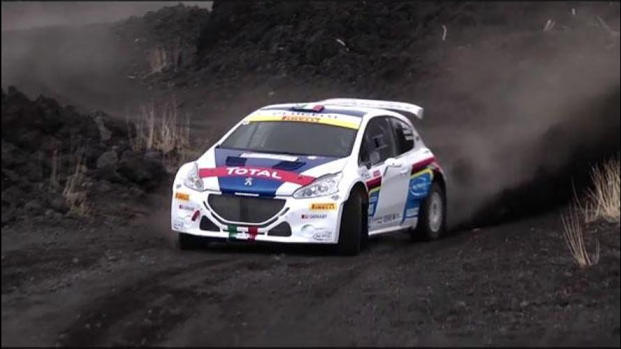 Peugeot 208 T16, scalata mozzafiato sull'Etna con Paolo Andreucci