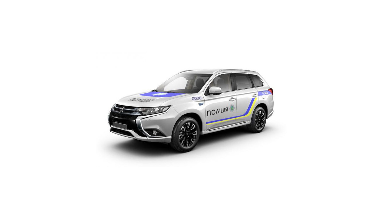 Mitsubishi Outlander PHEV for Ukraine national police force
