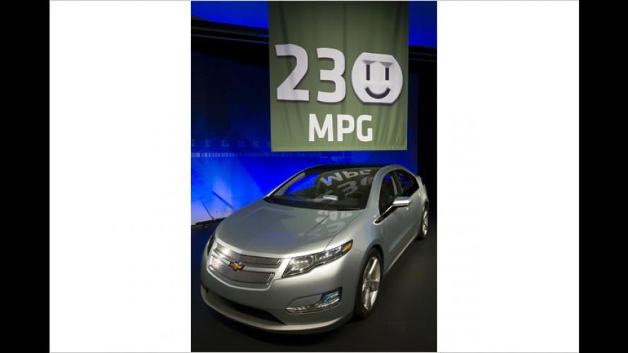 Chevrolet Volt: Nur ein Liter Sprit pro 100 Kilometer