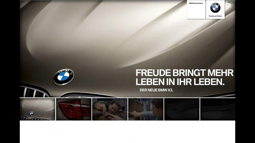 BMW X3: i primi teaser