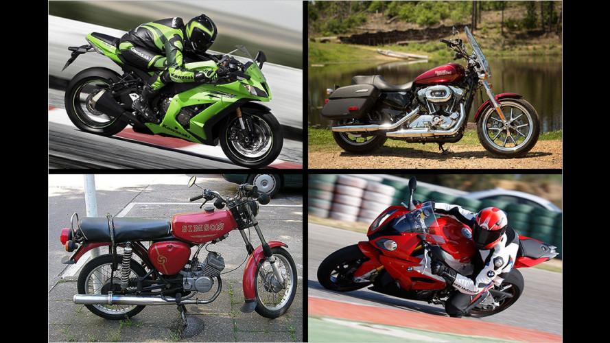 Die Top Ten der begehrtesten Motorräder