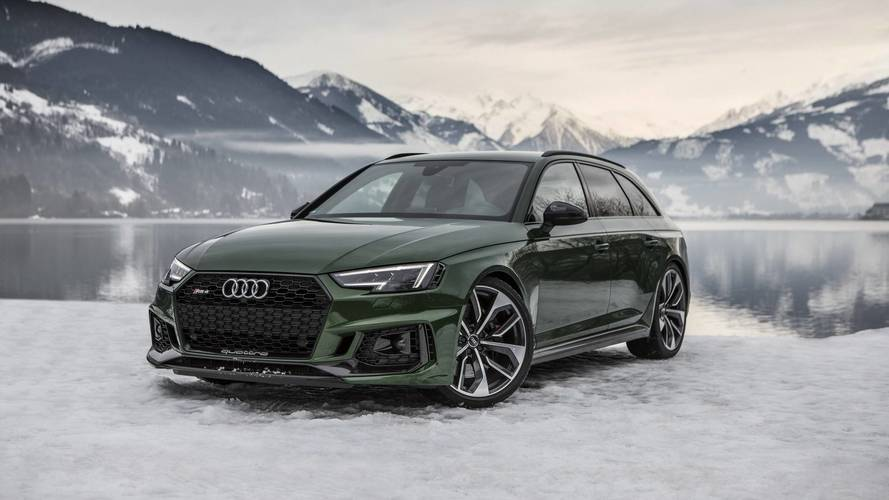 audi rs4 avant sonoma green in austria photos. Black Bedroom Furniture Sets. Home Design Ideas