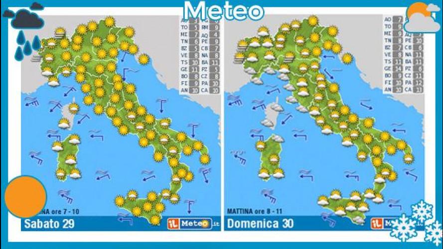Previsioni meteo 29 e 30 marzo: sole con... catene da neve!