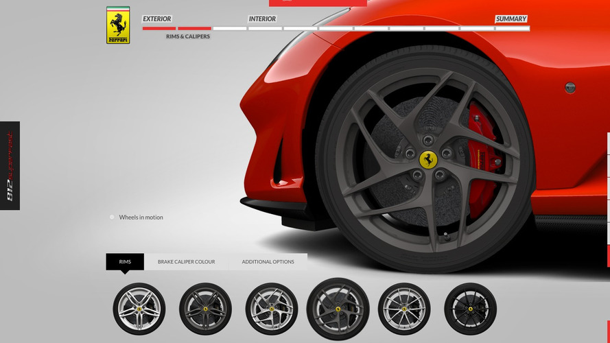 Configuration Ferrari 812 Superfast