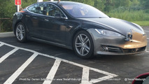 Tesla Model S test mule