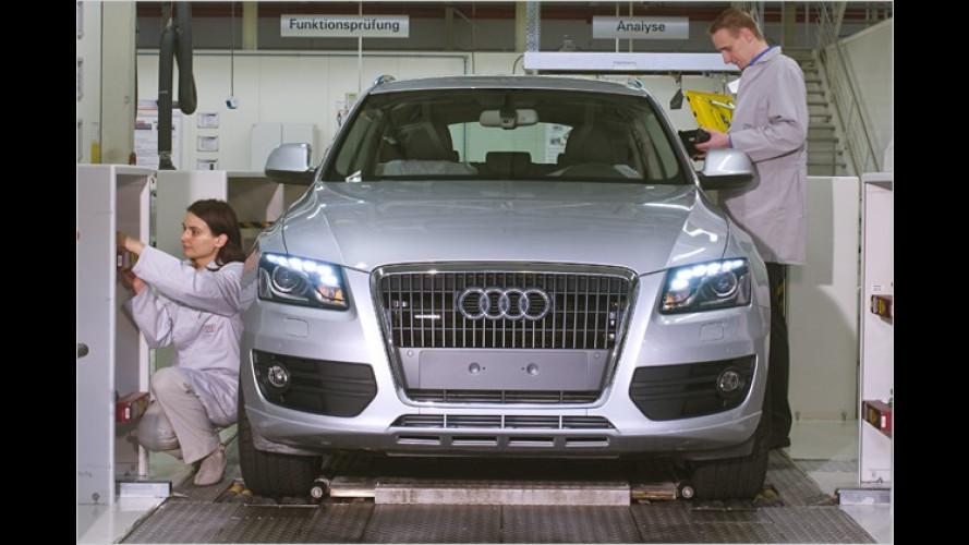 Die Presse an der Presse: Ein Besuch im Audi-Werk