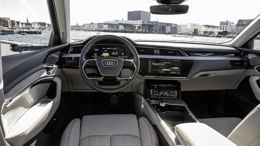 Audi E-Tron Reveals High-Tech Interior With Five Screens