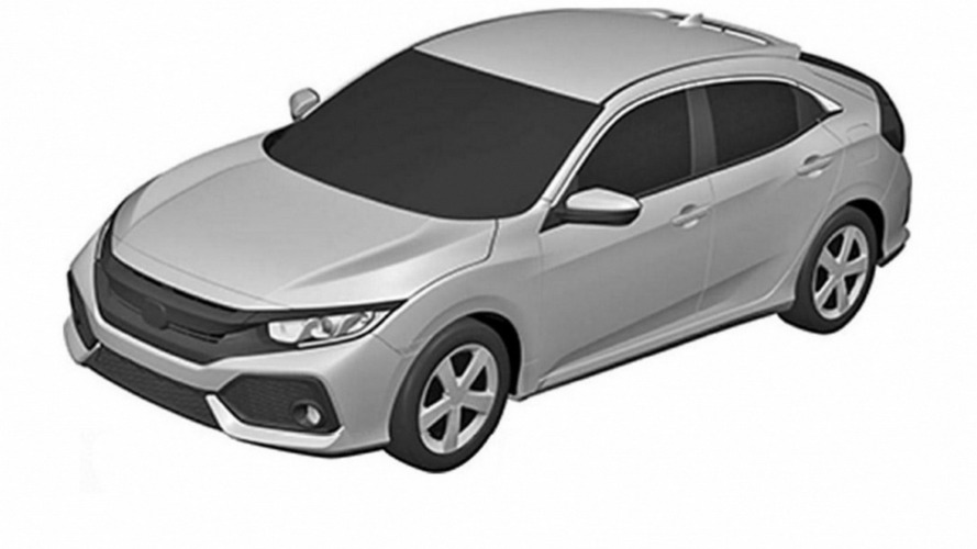2017 Honda Civic hatchback patent images could show production version