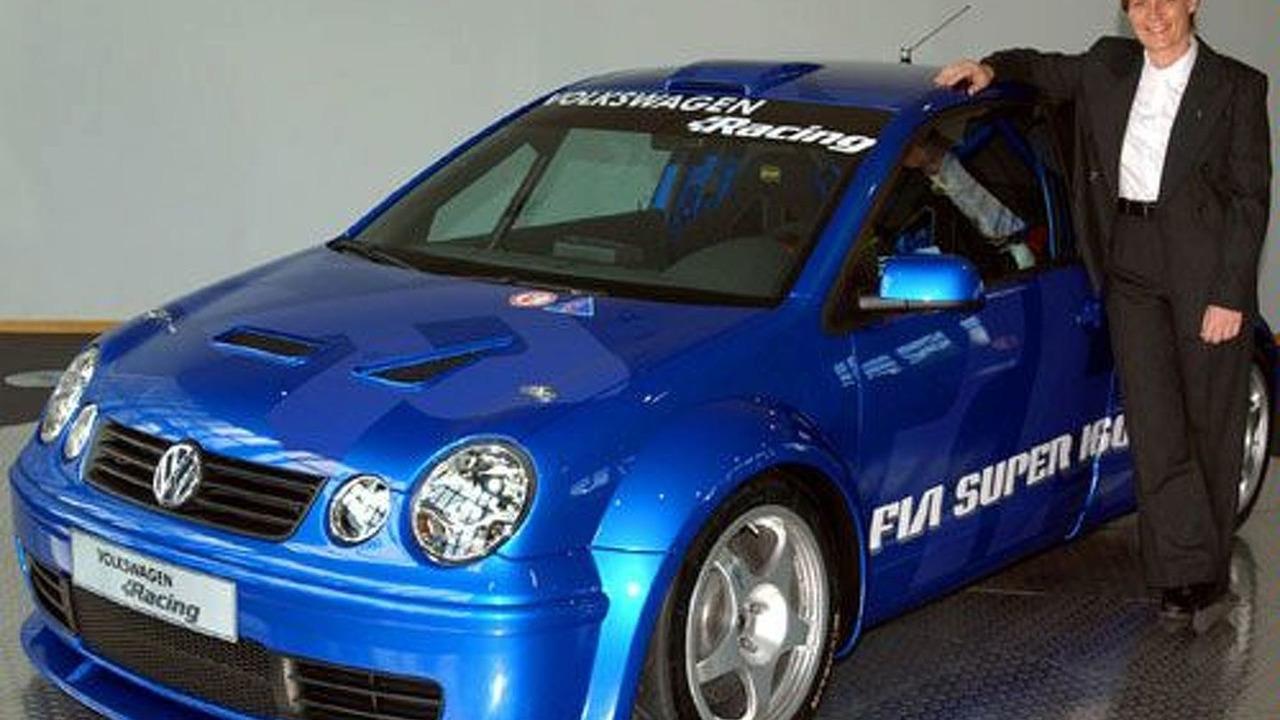 Jutta Kleinschmidt with Polo Super 1600 rally car