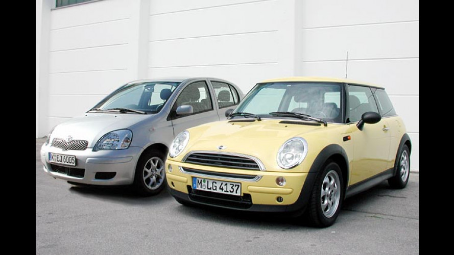 Vergleichstest: Mini Diesel contra Toyota Yaris Diesel