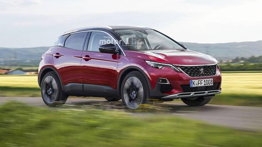 Render Peugeot 1008: SUV, urbano y eléctrico