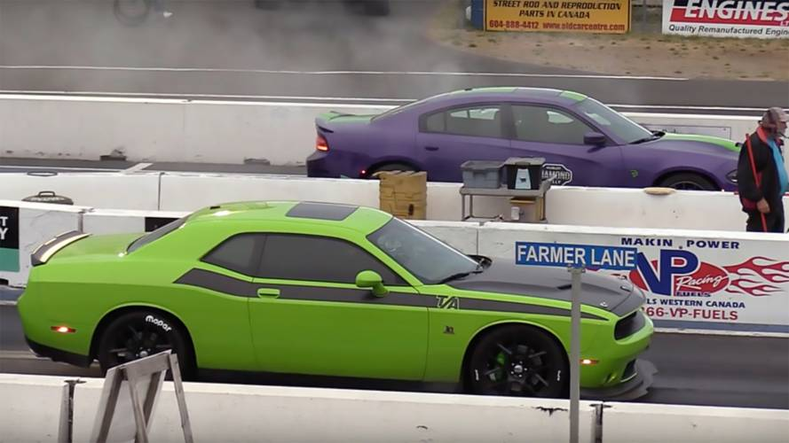 Watch 13 Minutes Of Dodge's Latest Hardcore Models Drag Race