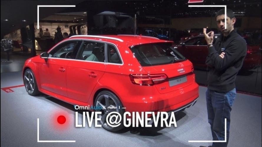 Salone di Ginevra, da Audi per la RS3 Sportback [VIDEO]