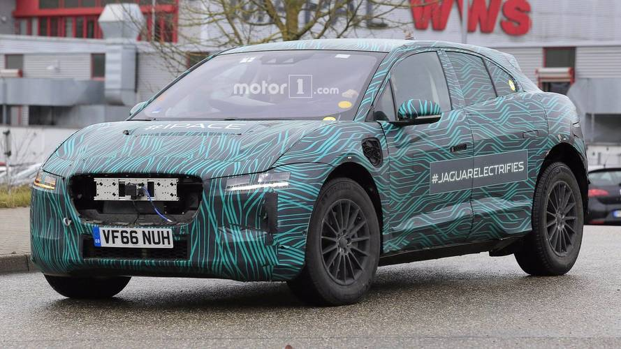 Jaguar I-Pace Caught Up Close Peeling Off Camouflage