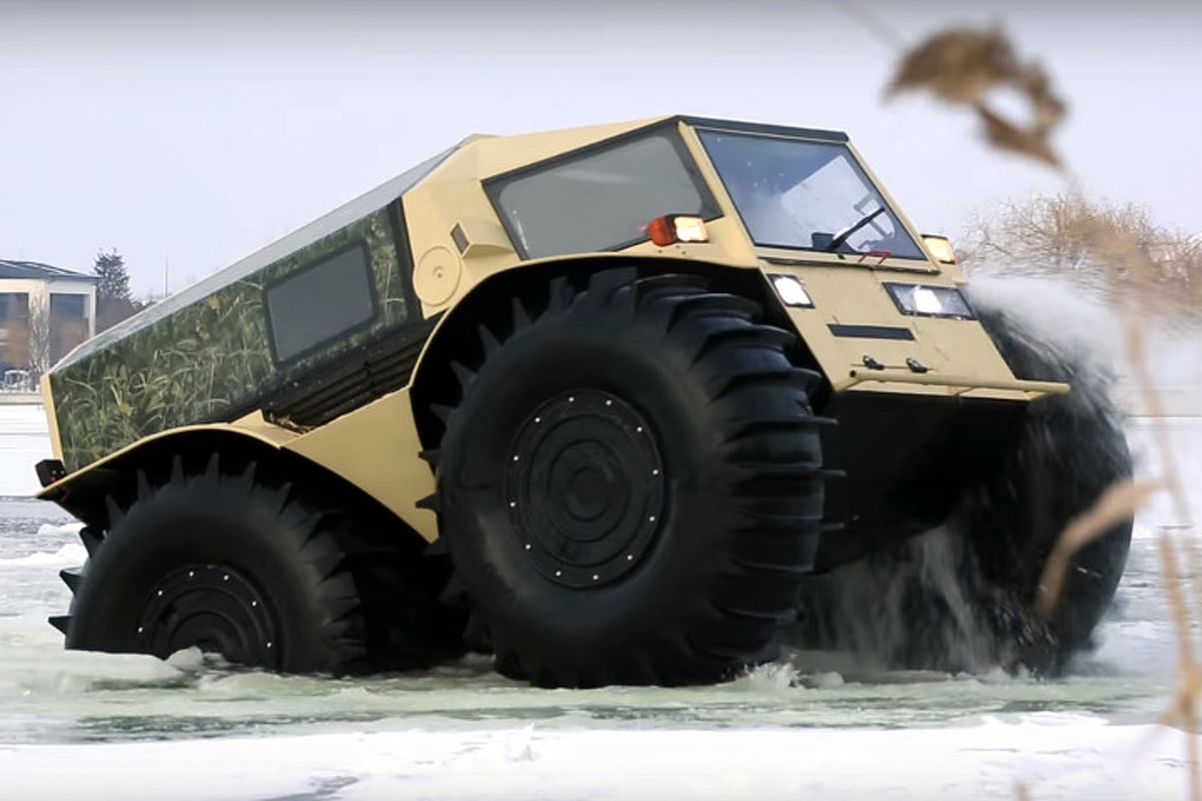 Russian Sherp is the Ultimate Amphibious 4x4