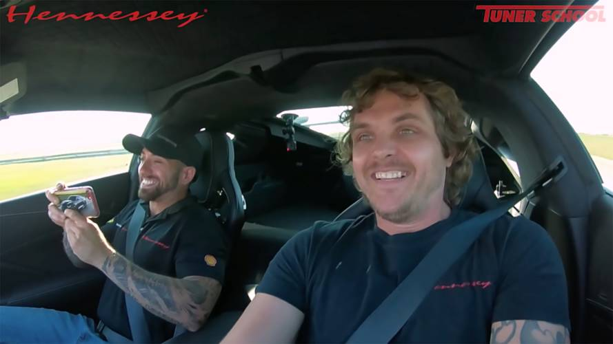 Watch Hennessey Employees Take Turns Driving 2019 Corvette ZR1