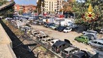 Esplosione A24: le immagini dell'incendio a Bologna