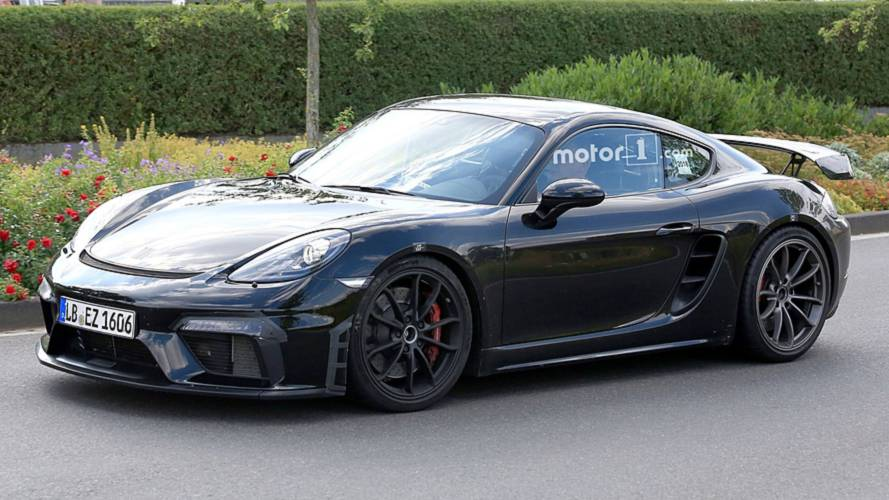2019 Porsche 718 Cayman GT4 Spied Nearly Naked