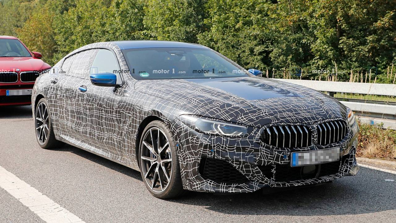 bmw 8 series gran coupe spied soaking up some sun. Black Bedroom Furniture Sets. Home Design Ideas