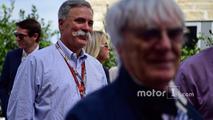 Chase Carey, Formula One Group Chairman and Bernie Ecclestone