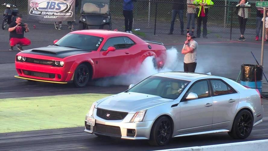 Cadillac CTS-V, Dodge Demon'ın tozunu yutuyor