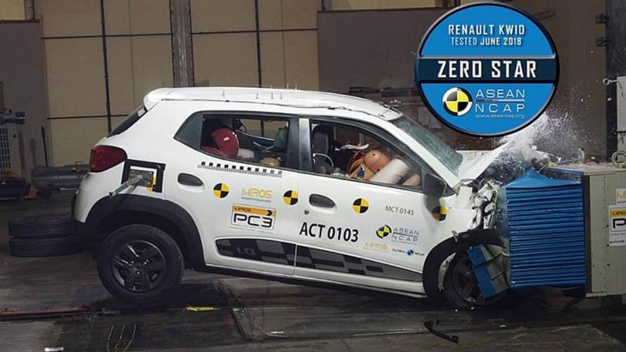 Renault Kwid indiano repete nota zero em novo teste de colisão