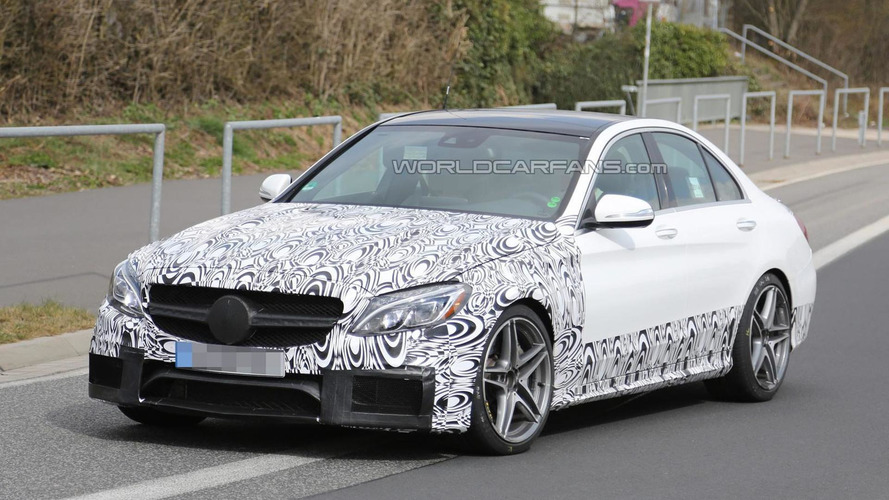 2015 Mercedes-Benz C63 AMG drops some camo in latest 'Ring spy photos