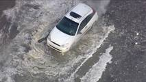 Ford Focus Stuck In Flood