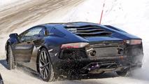 Yeni Lamborghini Aventador Modeli Casus Fotoğrafları