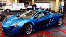 McLaren P1 with SLR Blue paint