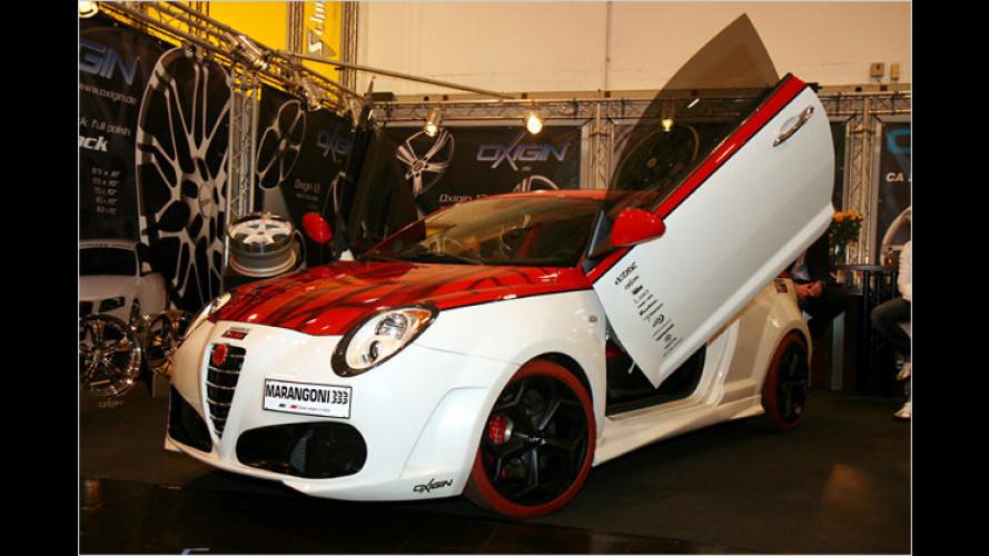Alfa MiTo im Stile eines Ferrari F430 auf der Essen Motor Show