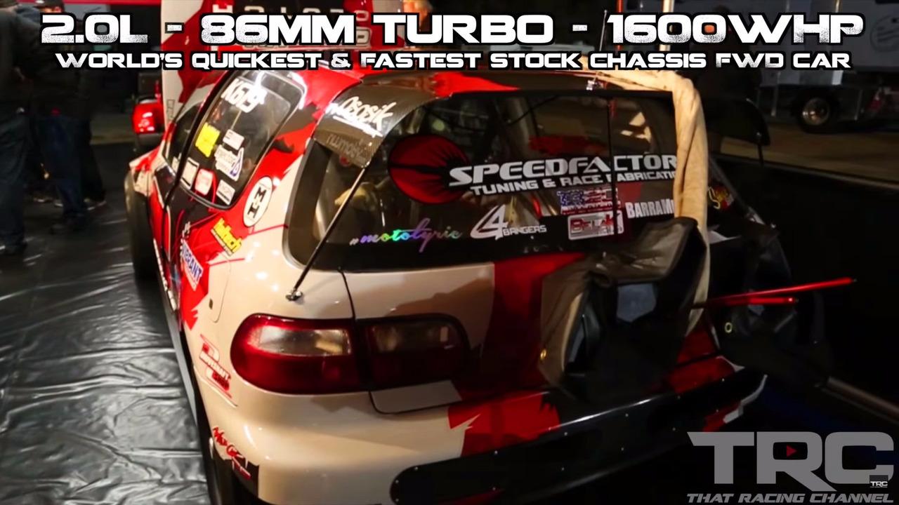 SpeedFactory Racing Honda Civic FWD drag car