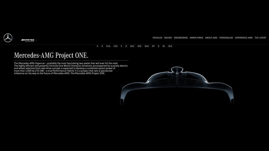 Mercedes-AMG hiper otomobilinin resmi adı Project One oldu