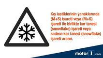 Kış lastiği işareti snowflake