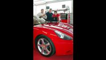 Michael Schumacher al lavoro sulla nuova Ferrari California