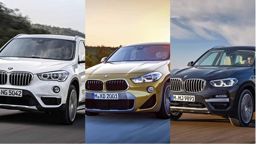 BMW X1 vs X2 vs X3