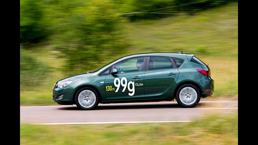 Opel Astra EcoFlex da 99 g di CO2