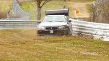 Nissan Skyline GT-R crash at Nurburgring