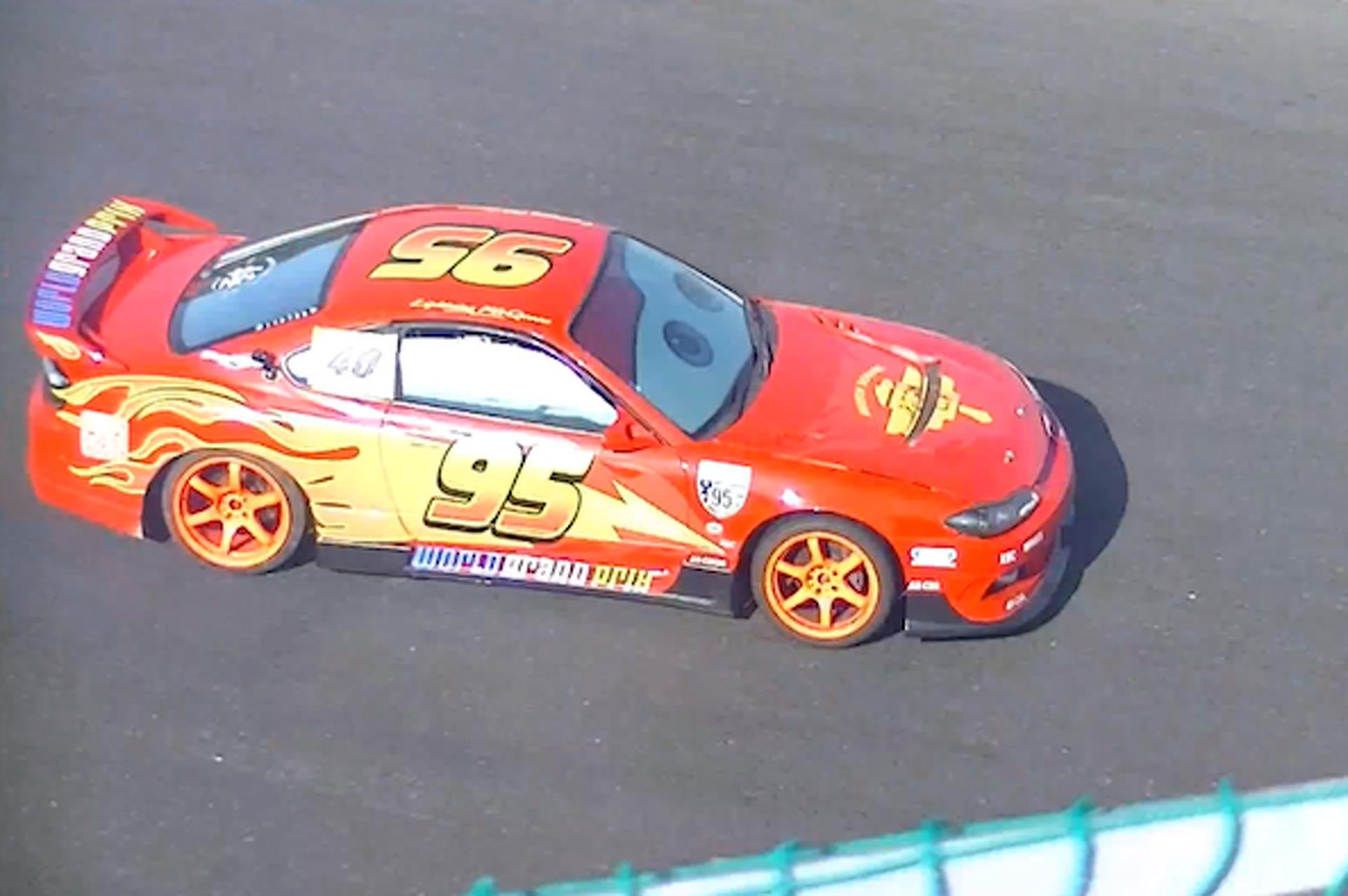 Watch Lightning McQueen in a Japanese Drift Race