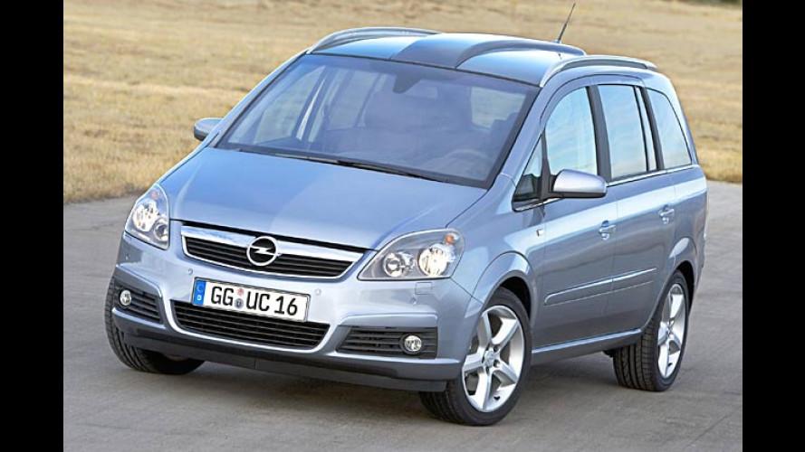 Opel Zafira: Neue Generation startet im Juli 2005
