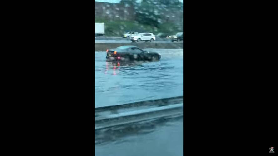 Ferrari California in flood