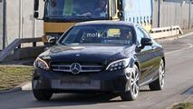 2018 Mercedes C-Class Coupe facelift spy photos