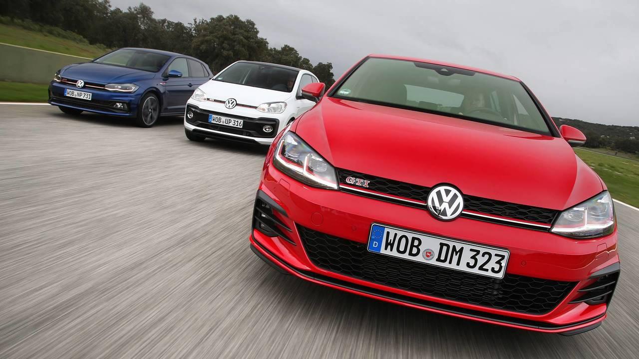 Volkswagen GTI, tutta la gamma in pista
