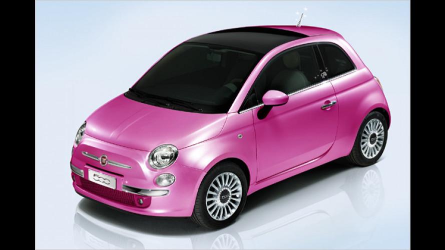 Fiat 500 als Geburtstagsgeschenk für Barbie