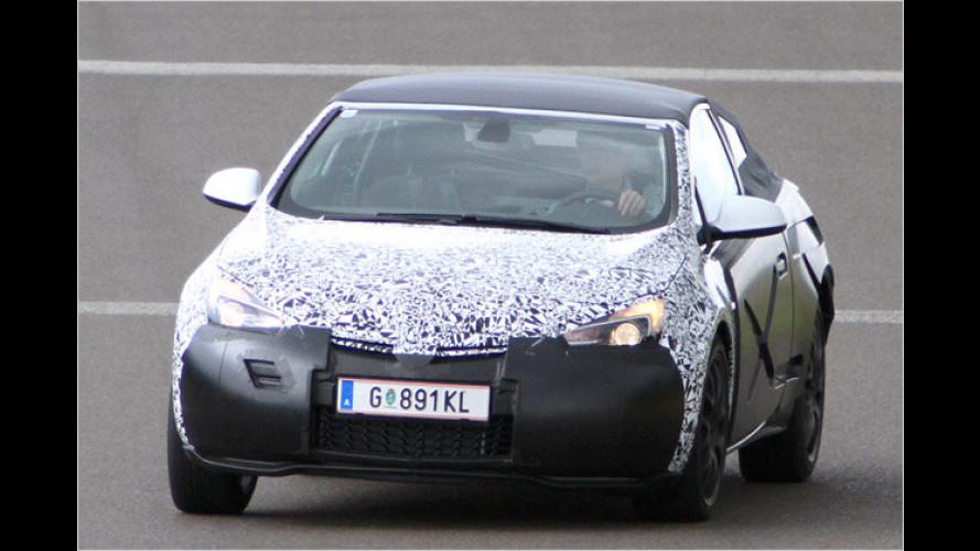 Dreht die ersten Runden: Neues Opel Astra Cabrio
