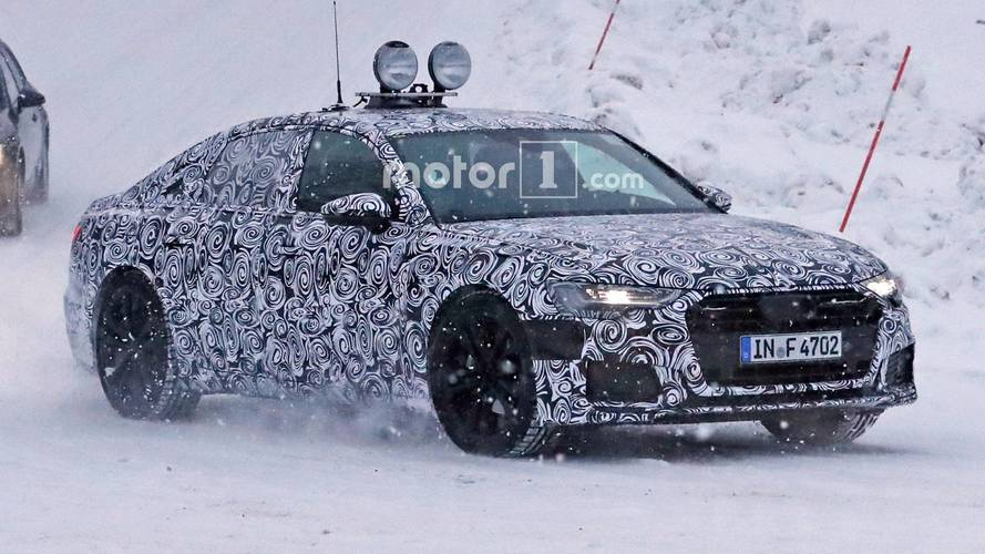 2019 Audi A6 Spied With Production Lights In The Show