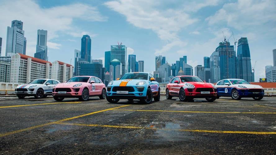 Le Porsche Macan s'offre cinq livrées mythiques de compétition
