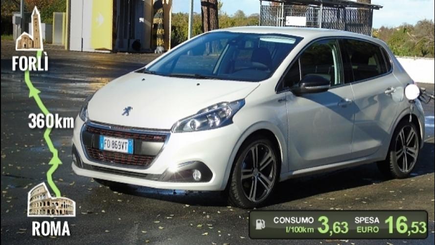 Peugeot 208 BlueHDi, la prova dei consumi reali