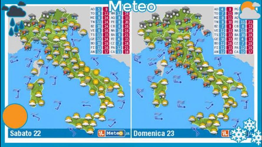 Previsioni meteo 22 e 23 marzo: torna la neve
